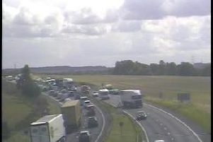 The A1 near Pontefract.