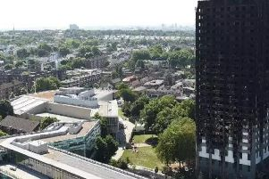 Grenfell Tower after the fire. Pic: PA.