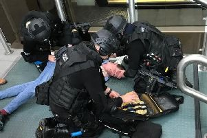Treating a victim of a terror attack (Photo: Counter Terrorism Policing North East).