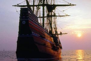 The Mayflower sailed from the UK to Boston in 1620, carrying the Pilgrim Fathers