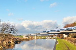 An artist's impression of how HS2 could look.