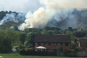 A photo of the fire from resident Derek Lawson @delboy59 on Twitter