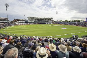 Stand and deliver: The Headingley skyline has been transformed by the introduction of the �34m Emerald Stand.   Picture: SWPIX