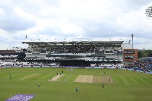 CROWNING GLORY: England and Pakistan compete in Sunday's ODI with the new Emerald Stand at Headingley behind them. Picture: Mike Egerton/PA