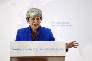 Prime Minister Theresa May made a speech in central London on her latest Brexit plans. Photo: Kirsty Wigglesworth/PA Wire