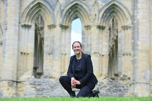Susan Harrison who is collections curator at Whitby Abbey