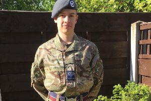 Cadet Warrant Office Thomas Grieves. PIC: RAF Press Office