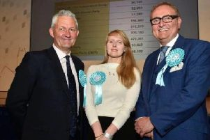 The Brexit Party's Jake Pugh, Lucy Harris and John Longworth have been elected in Yorkshire and Humber. Picture: Steve Riding.