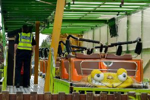 The Twister rollercoaster in Lightwater Valley theme park near Ripon, North Yorkshire. PIC: SWNS