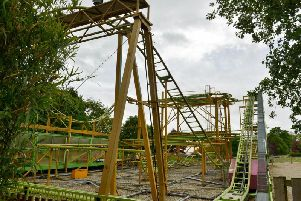 The Twister rollercoaster at Lightwater Valley. PIC: SWNS