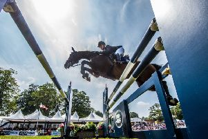 FLYING HIGH: Action from last year's showjumping event at Bramham.  Picture: James Hardisty.