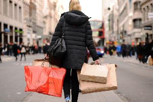 Footfall at shopping destinations across Yorkshire and the rest of the UK plummeted last month. Picture: Dominic Lipinski/PA Wire