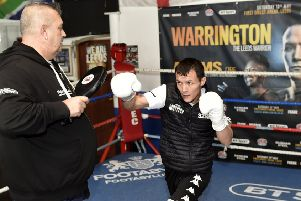 Josh Warrinton trainis with his father and trainer Sean O'Hagan.