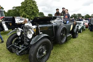 A good view from the Bentley to watch the Broke FMX display team. Picture Steve Riding