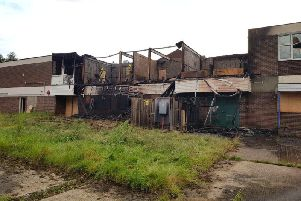 The devastating aftermath of the fire. Picture: Russell Jenkinson.