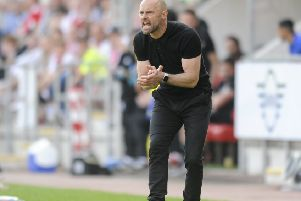 Carry on: Paul Warne's management style has been praised by his chairman at Rotherham, Tony Stewart (Picture: Dean Atkins)