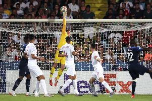 England U21 goalkeeper Dean Henderson tips a shot from France U21's Nanitamo Ikone over the crossbar during the UEFA European Under-21 Championship, Group C match at Dino Manuzzi, Cesena. (Picture: Nick Potts/PA Wire)