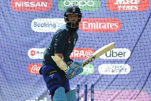 Moeen Ali during the nets session at Headingley.