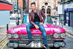 Peter Andre (Teen Angel) at the Grease press launch in Leeds.
