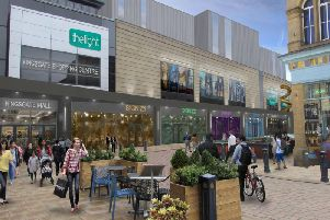 An artist's impression of how the transformation will take shape in Huddersfield