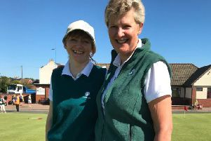 Yorkshire Ladies' captain Heather Muir, right, with the team's coach Lysa Jones (Picture: Yorkshire Ladies County Golf Association).