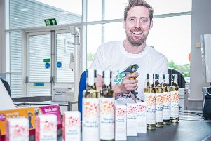 Ricky Wilson with the range of Weed & Wonderful seaweed oils