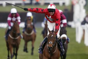 TOP MARKS: Ryan Hatch and Blaklion win The RSA Steeple Chase at Cheltenham in March 2016. Picture: Alan Crowhurst/Getty Images