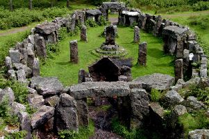 The Druid's Temple near Masham - there is public right of way to the site above Pot Beck