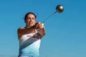 Aiming for Paris: Hammer thrower Jessica Mayho.  Picture: Bruce Rollinson