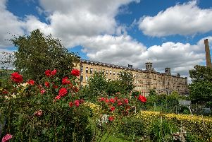 Salts Mill from the allotments provided for mill workers