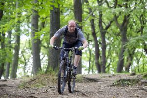 Cyclist Chris Maloney, who is appalled by the action of vigilantes alone cycling routes in the Peak District National Park. Picture by Scott Merrylees.