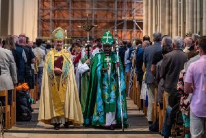 Justin Welby and John Sentamu, the Archbishops of Canterbury and York. Picture by James Hardisty.