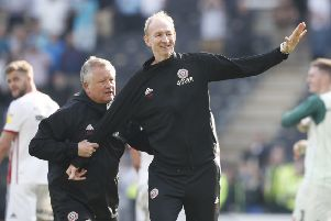 DYNAMIC DUO: Sheffield United manager Chris Wilder with assistant Alan Knill. Picture: Simon Bellis/Sportimage.