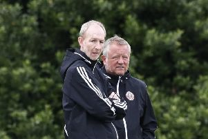 TARGETS: Chris Wilder, right, with assistant Alan Knill. Picture: Simon Bellis/Sportimage