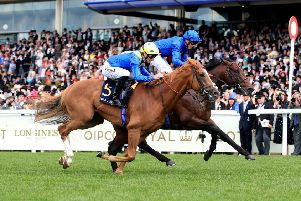 Dream Of Dreams and Danny Tudhope (near side) hope to win Newmarket's Darley July Cup after just failing to catch the now retired Blue Point at Royal Ascot last month.