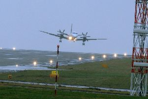 Planes are being held over Leeds Bradford Airport.