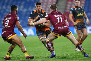 Mitch Clark in action for Castleford Tigers this season.