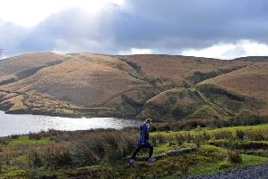 Gorpley reservoir above the Calder Valley is playing a key role in flood prevention.