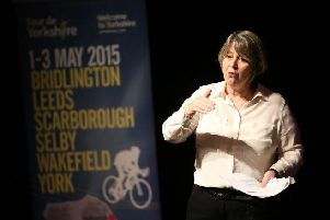 Dee Marshall, pictured in 2015 at a Welcome to Yorkshire event.