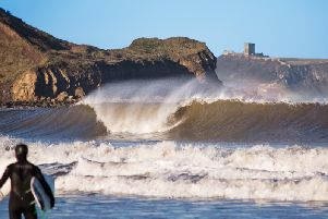 Scarborough is a popular spot for surfers. Photo by Chris Kendall.