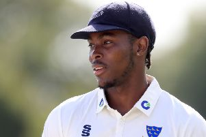 Sussex's Jofra Archer: Playing in the seconds to prove his fitness.