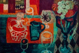 Mary Fedden (1915-2012) Orange and Green Still Life, 1957. Oil on canvas.