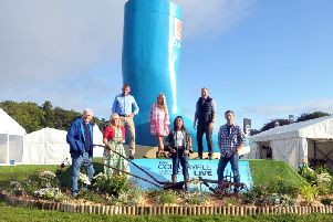 Countryfile presenters John Craven, Charlotte Smith, Tom Heap, Ellie Harrison, Anita Rani, Adam Henson and Matt Baker open the four-day Countryfile Live event at Castle Howard. Picture by Tony Johnson.