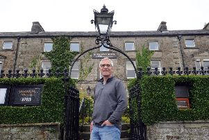 Owner Ian Hewitt at the Burgoyne Hotel in the centre of Reeth in Swaledale. Picture: Tony Johnson.