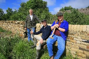 The Noble family has a long history of dry stone walling.