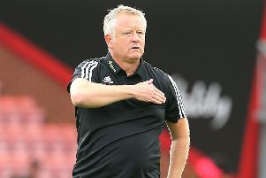 Sheffield United manager Chris Wilder celebrates with the crowd after the final whistle during the Premier League match at Bournemouth. (Picture: Mark Kerton/PA Wire)