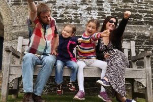 The Kik family from Dore are among those backing the appeal after Ellena, pictured with big sister Evie, mum Genna and dad Matt, was airlifted to hospital after collapsing as a tiny baby.