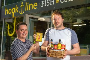 David Duttine (left) and Frank Jay, Founders Hook & Line and Chilli Shop
