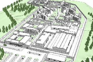 The plans include accomodation blocks four-stories high