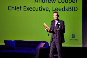 Andrew Cooper, chief executive of LeedsBID, launched the new business plan.